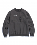 에스피오나지(ESPIONAGE) Barry Training Pullover Shirts Charcoal