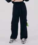 스컬프터(SCULPTOR) Satin Cargo Jogger Pants [BLACK]