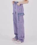 스컬프터(SCULPTOR) Washing Cargo Jeans [LIGHT PURPLE]