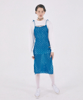 Crochet Knit Layered Dress [FRENCH BLUE]