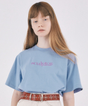 스컬프터() Small Logo Embroidery Tee [BABY BLUE]