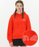 스트리트 스탠다드() STSD LOGO C/MIXEDHOODIE-CHERRY RED