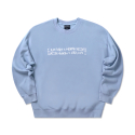 아임낫어휴먼비잉() Basic Logo Crewneck - ROYAL BLUE