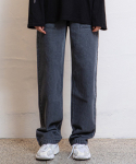 하이드() [남녀공용] Out Pocket Denim Pants_Grey