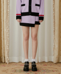 하트클럽(HEART CLUB) Heart Color Block Knit Skirt_Light Purple