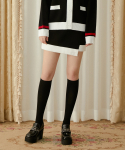 하트클럽(HEART CLUB) Heart Color Block Knit Skirt_Black