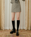 하트클럽(HEART CLUB) Heart Check Skirt_Beige