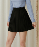 하트클럽(HEART CLUB) Heart Pleats Skirt_Black