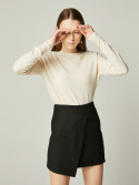 아레나 발쌈() UNBALANCED MINI SKIRT Black