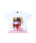아조바이아조(AJOBYAJO) Perfect Fink Face T-Shirt [White]