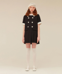 오아이오아이(OiOi) BIG COLLAR PLEATS ONEPIECE_navy