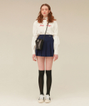 오아이오아이(OiOi) PLEATS MINI SKIRT_navy