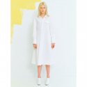 오이아우어(OIAUER) Unbalance Shirt Dress in White