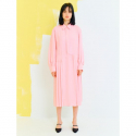 오이아우어(OIAUER) Pintuck Dress in Light Pink