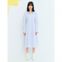 오이아우어(OIAUER) Unbalance Shirt Dress in Blue