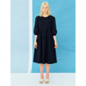 오이아우어(OIAUER) Shirring Dress in Black