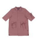 아조바이아조(AJOBYAJO) Tri Pockets Shirt [Indian Red]