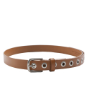 라이풀(LIFUL) EYELET LEATHER BELT brown
