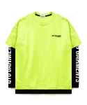 큐티에잇(QT8) FG Keep Logo Layered Tee (Lime)