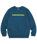 디스이즈네버댓() T-Logo Crewneck Dark Bluegreen