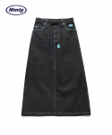 엠엠엘지(MMLG) [Mmlg] DENIM SKIRT (WASHED BLACK)