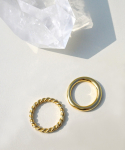 위트홀리데이() GOLD DAILY RING 2SET [소재Silver925]