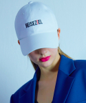 무디디() Lettering ball cap 003 White