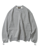 유니폼브릿지(UNIFORM BRIDGE) 20ss MxU pocket sweatshirts grey