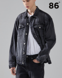 86로드(86ROAD) (20SS 신상) Washed cutting denim jacket (BLACK)