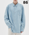 BASIC DENIM SHIRTS SKY BLUE