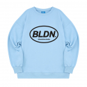 블론드나인() CIRCLE BLDN BLACK LOGO SWEATSHIRT_SKY BLUE