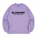 블론드나인() ORIGINAL BLACK LOGO SWEATSHIRT_PURPLE