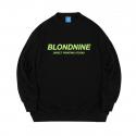 블론드나인() ORIGINAL YELLOWISH GREEN LOGO SWEATSHIRT_BLACK