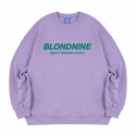 블론드나인() ORIGINAL GREENLOGO SWEATSHIRT_PURPLE