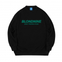 블론드나인() ORIGINAL GREEN LOGO SWEATSHIRT_BLACK