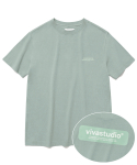 비바스튜디오(VIVASTUDIO) BOX LOGO SHORT SLEEVE JS [MINT]