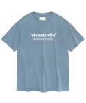 비바스튜디오(VIVASTUDIO) ORIGINAL LOGO SHORT SLEEVE JS [PASTEL BLUE]