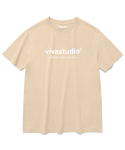 비바스튜디오(VIVASTUDIO) ORIGINAL LOGO SHORT SLEEVE JS [BEIGE]