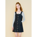 마가린핑거스(MARGARIN FINGERS) pinafore denim one piece