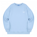 블론드나인() SMALL BLOND9 WHITE LOGO SWEATSHIRT_SKY BLUE
