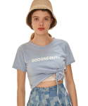 오드원아웃(ODDONEOUT) Tie crop T-shirts_SB