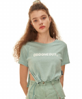 Basic logo string crop T-shirts_MT