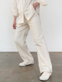 르() string jagger pants (cream)