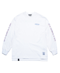 스티그마() GALLOP OVERSIZED LONG SLEEVES T-SHIRTS WHITE
