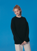 블론드나인(BLOND9) ROUND KNIT SWEATER_BLACK