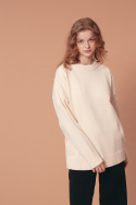 블론드나인(BLOND9) ROUND KNIT SWEATER_IVORY
