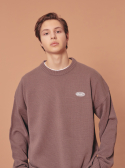 블론드나인() WAPPEN ROUND KNIT SWEATER_BROWN
