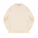 블론드나인() WAPPEN ROUND KNIT SWEATER_IVORY