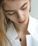 누아보(NUAVO) blue glass necklace