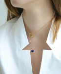 누아보(NUAVO) Lapis hook necklace